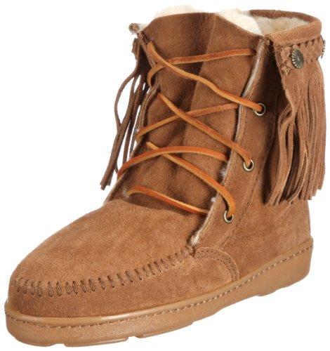 Minnetonka Women's Shearling Tramper Boot,Tan,8 M (Minnetonka Shearling Boots)