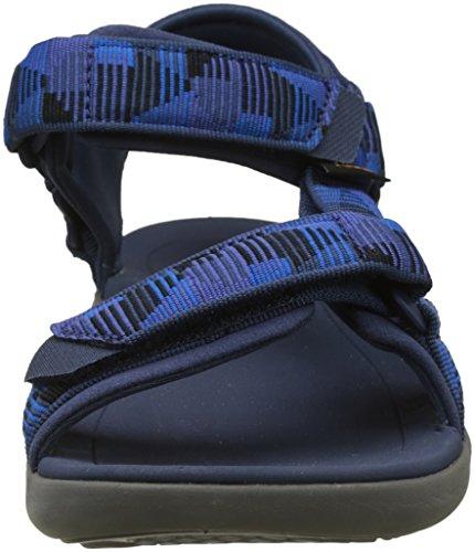 Teva M Terra-Float 2 Universal, Sandalias de Punta Descubierta Para Hombre Azul (Nica Galaxy Blue)