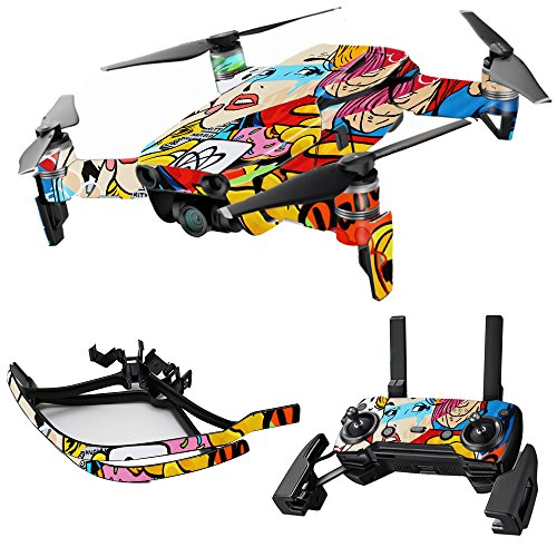 MightySkins Skin for DJI Max Coverage - Cartoon Mania | Protective, Durable, and Unique Vinyl Decal wrap Cover | Easy to Apply, Remove, and Change Styles | Made in The USA
