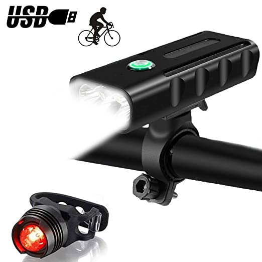 Juego de luces de bicicleta de fácil montaje, luces de bicicleta ...