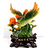 GL&G Lifelike eagle Decoration Home living room office Tabletop Scenes Ornaments High-end Lucky Resin Crafts Business gift,A,292636CM