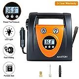AIMTOM Portable Air Compressor Pump, Auto Digital Tire Inflator, 12V 100 PSI Tire