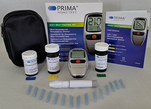 PRIMA 3IN1 CHOLESTEROL,TRIGLYCERIDES,GLUCOSE TEST METER