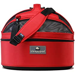Sleepypod Medium Mobile Pet Bed, Strawberry Red