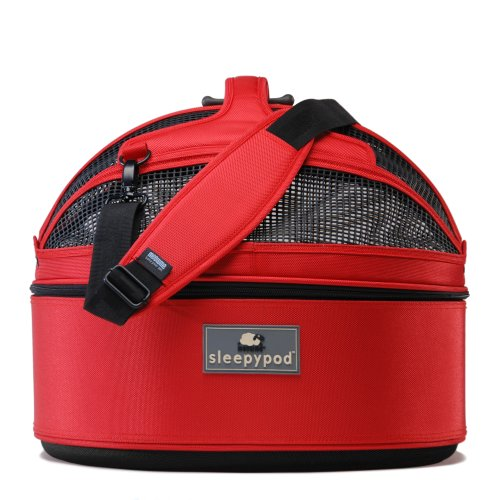 Sleepypod Medium Mobile Pet Bed, Strawberry Red by Sleepypod
