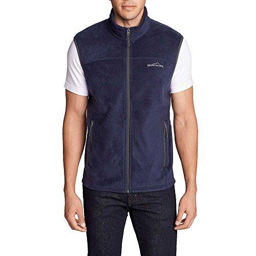 Eddie Bauer Men Quest 200 Fleece Vest Jacket Navy Blue S (Quest Vest)