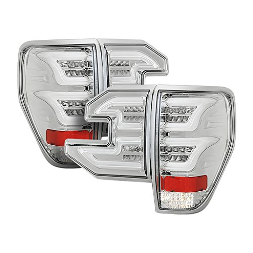 Grey Chrome Lens - Torcia Auto for Ford F150 09-14 Sequential LED Tail Lights, Clear Lens & Chrome Housing, Cruising Edition (TYPE C)