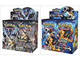 Pokemon Trading Card Game Sun & Moon Ultra Prism Booster Box and Evolutions Booster Box Bundle, 1 of Each