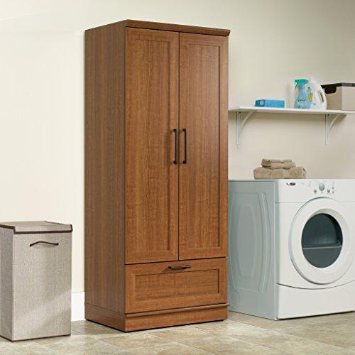 Sauder Homeplus Wardrobe/Storage Cabinet, Sienna Oak Finish