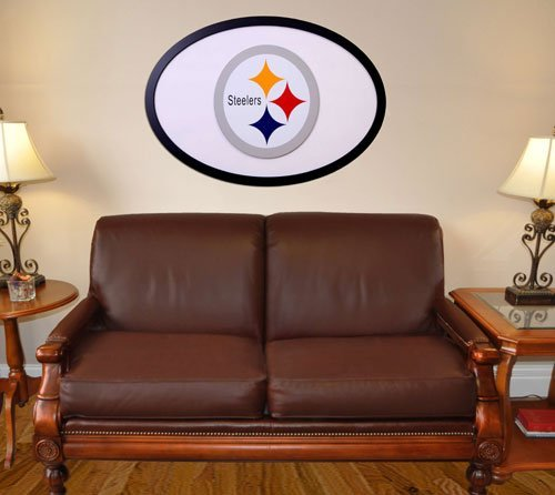NFL Logo Graphic Art Plaque NFL Team: Pittsburgh - Wall Inch Art 46 Logo