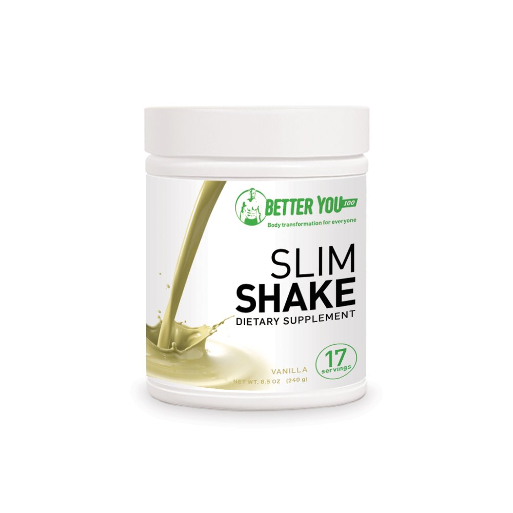 BetterYou100 Protein Diet Slim Shake - Vanilla Flavour - Healthy & Convenient Meal Replacement Powder, Nutritional Weight Loss & Muscle Growth Dietary Supplement, Tasty & Energy Boosting Formula by Betteryou100