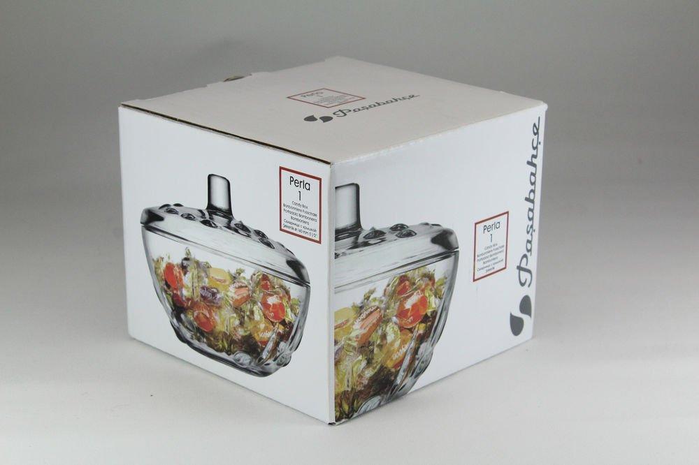 Pasabahce 97236 Perla - Azucarero de Caja de Cristal con Tapa de Caramelo: Amazon.es: Hogar