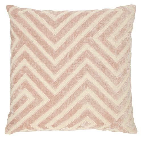 Rivet Modern Velvet Stripe Throw Pillow - 18 x 18 Inch, Pink