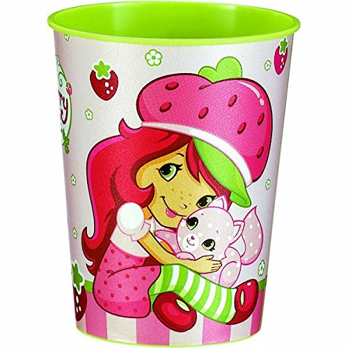 Amscan Pretty Strawberry Shortcake Birthday Party Favor Cup (1 Piece), 16 oz, Pink/Green