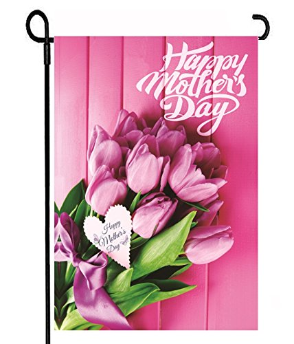 Happy Mother's Day Garden Flag | Seasonal Garden Flag for Outdoors, Beautiful Colorful Flower Design, Yard Decor, Double Sided Banner, Mini Size 12x18 inches, Beauty for your Garden, Mothers Day Gift