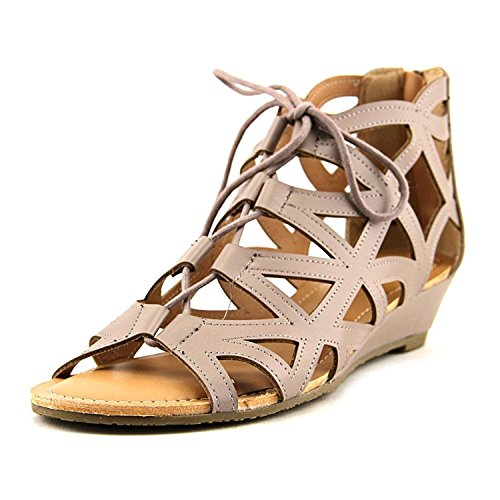 9eb4ebc05230 Esprit Women s Cacey Geometric Caged Laser Cutout Lace Up Open Toe Wedge  Ankle Bootie (8 B(M) US