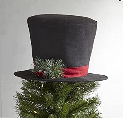 christmas tree decor top hat tree topper