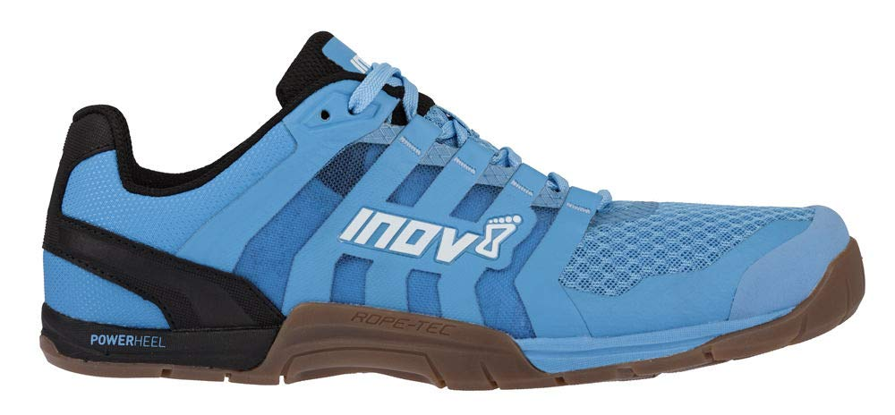 Inov-8 Womens F-Lite 235 V2 - Lightweight Minimalist Cross Training Shoes - Zero Drop - Athletic Shoe for Gym, Training and Weight Lifting - Wide Toe Box - Light Blue/Gum M5/ W6.5 by Inov-8