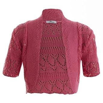 GIRLS Bolero Crochet Knitted Cardigan Kids Shrugs Top Age 2-13 Years