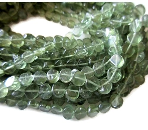 Apatite Coin - Wholesale 5 Strands/13.5 Inch Strand/Natural Green Apatite Coin Shape Gemstones Beads/5mm Beads -2673