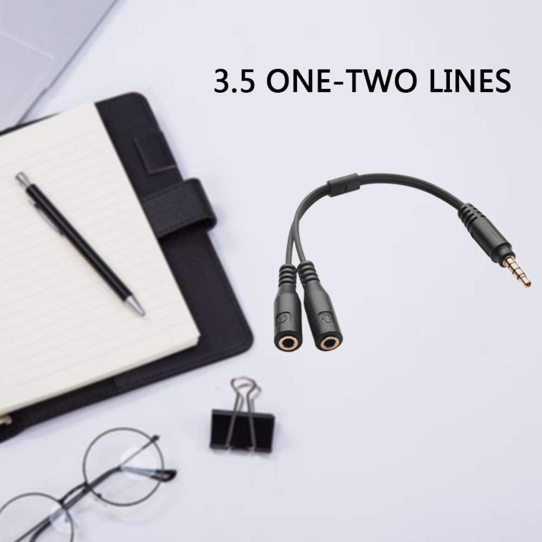 Munsif Ali 3,5 mm St/ér/éo Audio M/âle /à 2 Femelle Casque Micro TRRS Y Splitter C/âble Adaptateur C/âble Cordon