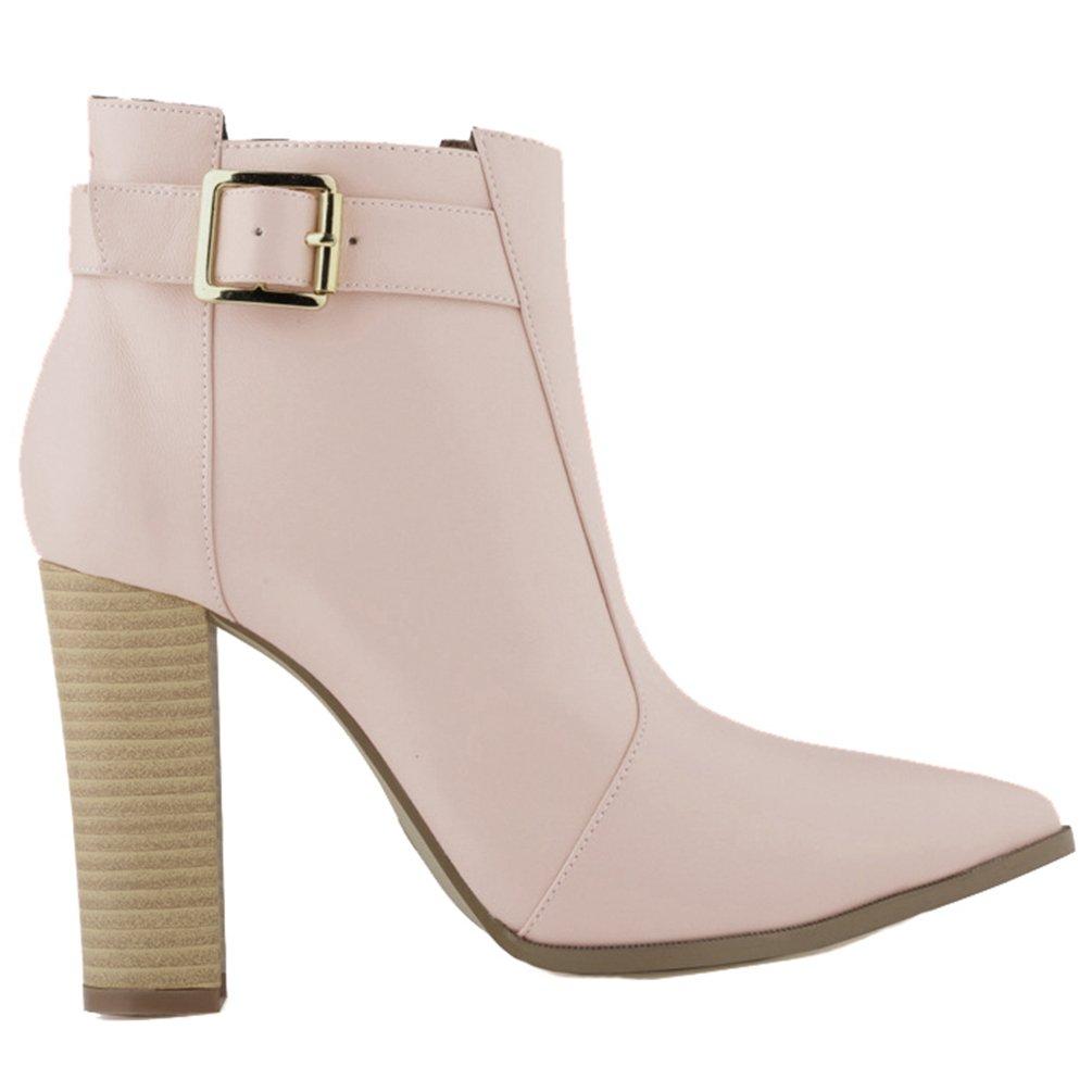 WanYang Frauen Boots High Heel Damen Stiefeletten Absatz Ankle Fruuml;hling und Herbst42 EU(Fu?l?nge:26CM/102?|Aprikose