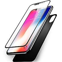 f5ff6574610 Olixar GlassTex - Protector de visualización para iPhone X (Cristal  Templado de 360 Grados, protección de Cuerpo Completo, Alternativa a la  Funda/Funda), ...