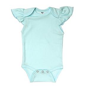 a5dd4971d09a Amazon.com  Laughing Giraffe Baby Girls Blank Flutter Short Sleeve ...