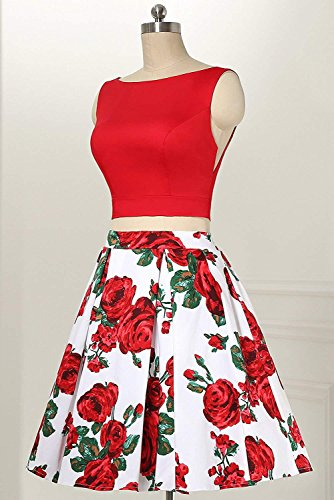 Print Red Floral Long Formal 559 Dresses Party Homecoming Aurora Gown Women's Prom 2018 Bridal tqT41T