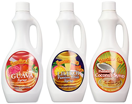 (Hawaiian Sun Premium Syrup Assortment 15.75-ounce (Pack of 3))