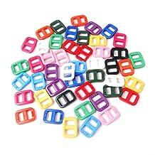 """50pcs 3/8""""(10.5mm) Webbing Colorful Plastic Slider Tri-Glide Adjust Buckles for Cat Dog Collar Backpack Straps FLC096(Mix-s)"""