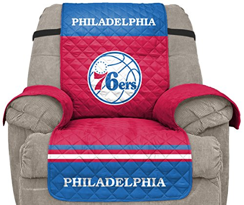 Pegasus Sports NBA Philadelphia 76Ers Unisex Nbanba Furniture Protector with Elastic Straps, Red, - Recliner Team Home Nba