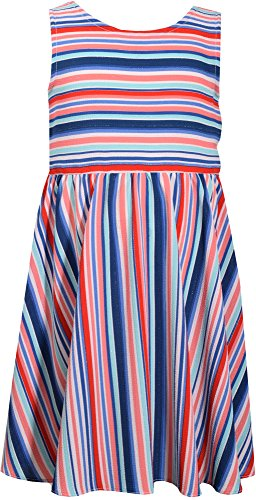 Bonnie Jean Little Girls Stripe Bow Back Dress 5 Blue Multi