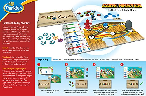 51A1ewA74JL - Think Fun Code Master Programming Logic Game and STEM Toy for Boys and Girls Age 8 and Up – Teaches Programming Skills Through Fun Gameplay