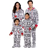 PajamaGram Family Pajamas Matching Sets - Christmas Onesie, Gray, Women, M, 8-10