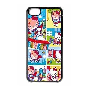 Unique Design -ZE-MIN PHONE CASE For Iphone 5c -Hollo Kitty Cartoon Pattern Pattern 15