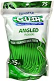 GUM Angled Flossers Fresh Mint 75 Each (Pack of 3)