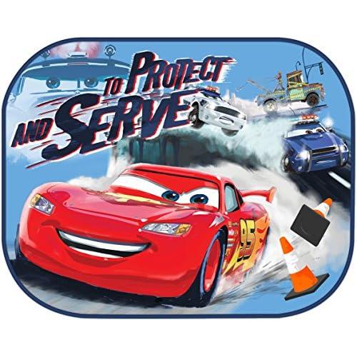 good Disney 2 Rideaux Latéraux Cars Rouge - www.fleximmo.be