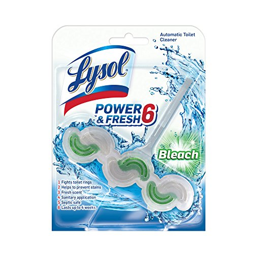 - Lysol Power & Fresh 6 Automatic Toilet Bowl Cleaner, Bleach, 1ct