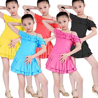 Dancewear Latintanz Aufführung-Austattungen(Schwarz Blau   Fuchsie Rot Rot Rot   Gelb,Polyester,Latintanz Aufführung) - fürKinder Rock Oberteil B073FH56JH Bekleidung Flut Schuhe Liste 40cc0d