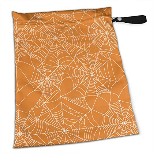 YyTiin Reusable Snack and Everything Bags - Halloween Spider Web,Large]()
