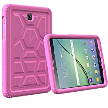 Galaxy Tab A 8.0 Case - Poetic [Turtle Skin Series]-[Corner/Bumper Protection][Tactile side Grip][Sound-Amplification][Bottom Air Vents] Protective Silicone Case for Samsung Galaxy Tab A 8.0 Pink