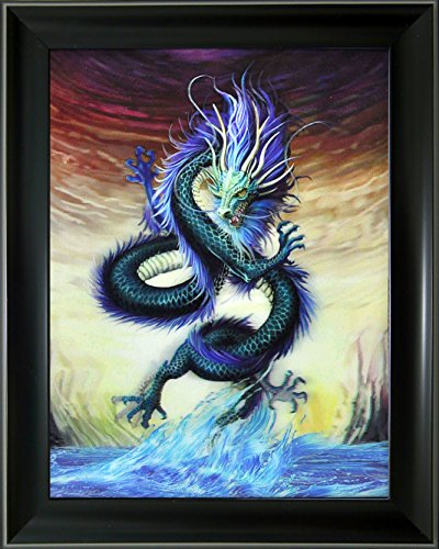 Lee's Collection Green Dragon 3D Holographic Animated Picture