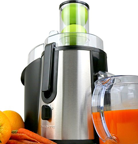 Ovente Wide Mouth Juice Extractor, For Fruits and Vegetables Juicing, 700 Watts