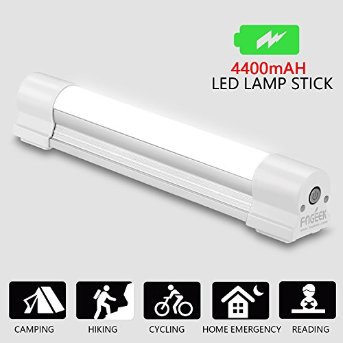 Portable LED Camping lamp, FOGEEK magnetic rechargeable lantern [camping gear][closet light][emergency light] outdoor camping equipment working lights 4400mAh Battery with SOS for Fishing, Hiking