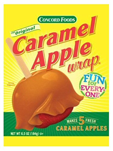 Concord Caramel Apple Wrap, 6.5-Ounce Wraps (VALUE Pack of 24 -