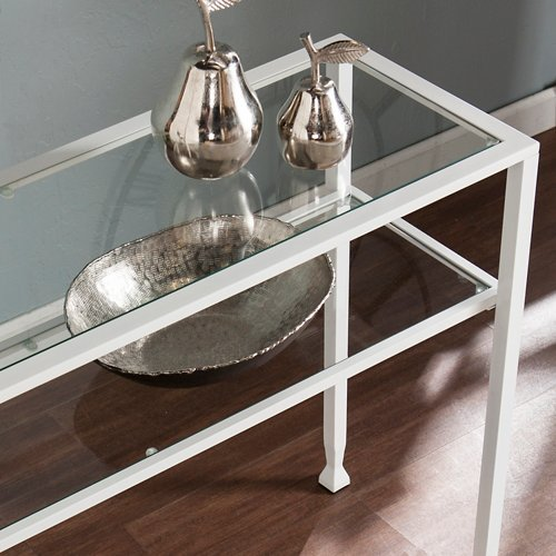 Jaymes Console Table in White Finish