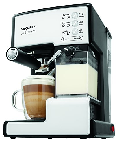 Mr. Coffee BVMC-ECMP1102 Cafe Barista Espresso Maker Machine,  White by Mr. Coffee