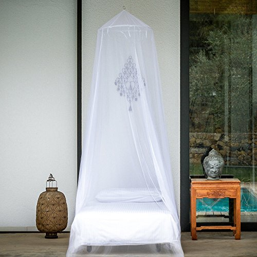 EVEN Naturals Mosquito NET Bed Single, Twin to Queen Size, Bed Canopy Curtains, Large White Mosquito Netting Opening, Easy Installation, Carry Bag