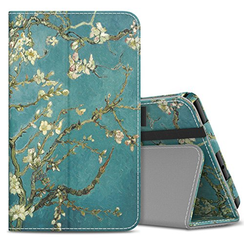 (MoKo Samsung Galaxy Tab A 8.0 2017 Case - Slim Folding Stand Cover Case with Handle Strap for Galaxy Tab A 8.0 (SM-T380 / T385) 2017 Release (NOT FIT 2015 Tab A 8.0 SM-T350/P350), Almond Blossom)